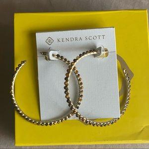 Kendra Scott Jewelry - KENDRA SCOTT Birdie Hoop Earrings in Tigers Eye